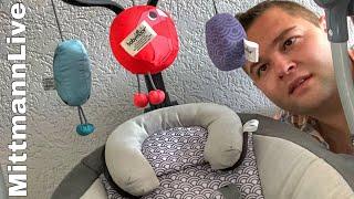Zur Geburt unserer süßen Liana gibt es eine elektrische Babyschaukel