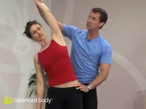 הארכת השרירים האלכסוניים במתיחה צידית