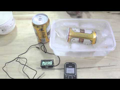 Làm bia lạnh nhanh bằng muối + đá, đã có ai thử chưa?
