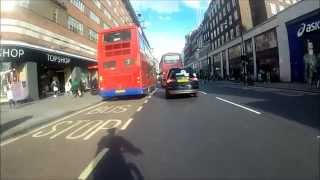 preview picture of video 'Bayswater to Oxford street in 12 mins cycling. Wide Angle'