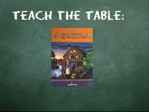 How to play Agricola: Teach The Table