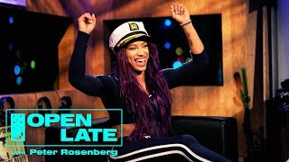 Open Late with Peter Rosenberg - WWE Takeover With Sasha Banks, The New Day, Rusev and Lana