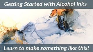 ALCOHOL INK PAINTING DEMO - What You Need To Paint - How To Use Alcohol Inks For Beginners.