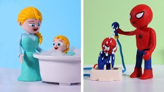 Diana and her friend to shower with dad and mom 💗 Cartoons For Kids