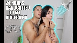 24 HOUR HANDCUFF CHALLENGE WITH MY GIRLFRIEND (OVERNIGHT)