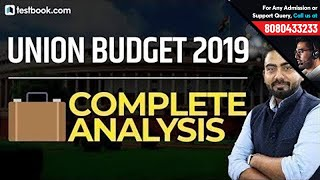 Union Budget 2019 Highlights | Complete Analysis Of Interim Budget | Live Budget 2019