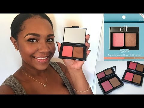 e.l.f. Aqua Beauty Blush and Bronzer REVIEW + 13hr Wear Test