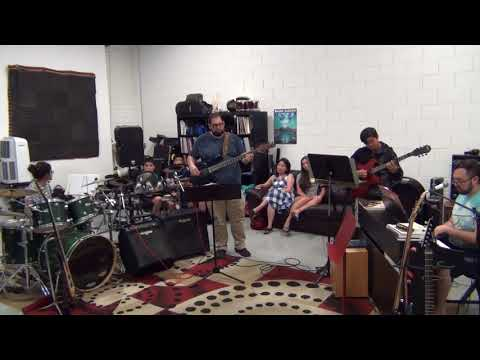 "One of the student bands with me filling in on bass. ""Love On the Brain"" by Rihanna"