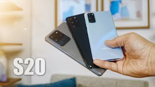 Samsung Galaxy S20 vs Samsung Galaxy S20+ vs Samsung Galaxy S20 Ultra 5G: Hands On Impressions!
