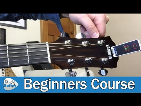 How to Tune A Guitar for Beginners (Guitar Basics - Lesson 4)