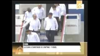 preview picture of video 'Llegan a Santiago de Cuba Presidente de China y Cuba'