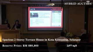 Intense Bidding between 6 Bidders for Spacious Luxury 2 Storey Terrace House in Kota Kemuning