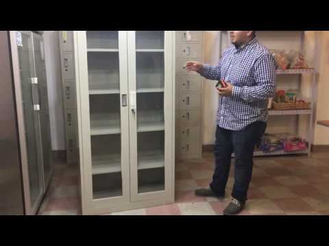 e0bb8b820 2 glass door file cabinet office metal box lockers cabinets storage  vertical filing