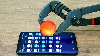 EXPERIMENT Glowing 1000 Degree METAL BALL vs Samsung Galaxy S9+