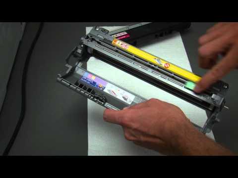 Tonerwechsel beim LED-Farbdrucker Brother HL-3040CN (auch HL-3070CW)