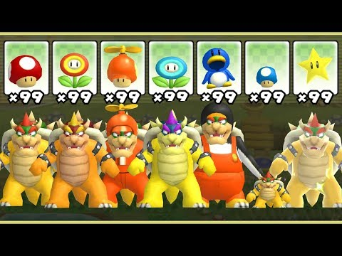 New Super Mario Bros. Wii - All Bowser Power-Ups