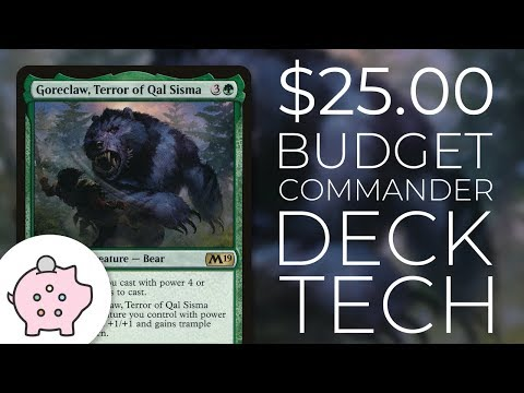 Goreclaw, Terror of Qal Sisma | EDH Budget Deck Tech $25 | Magic the Gathering | Commander