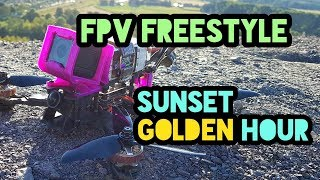 FPV Drone Freestyle - Sunset golden hour // HD