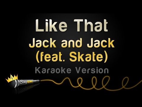 Jack and Jack - Like That (Karaoke Version)
