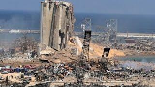 فيديو مروّع من الجوّ يظهر ما تبقّى من مرفأ بيروت!
