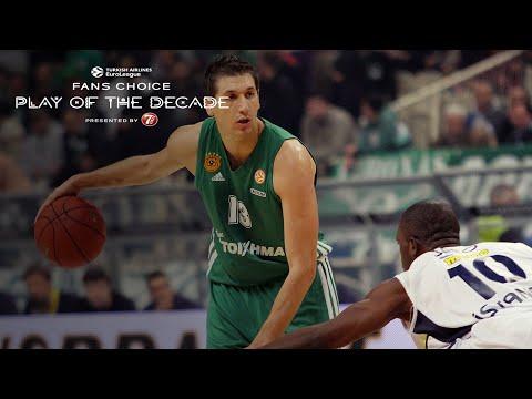 Round 7 winner, Fans Choice Play of the Decade: Dimitris Diamantidis