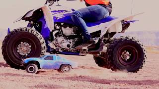 WHO WILL Win? Custom ATV vs RC CAR Going 75 MPH!