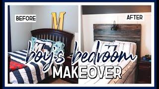 BOYS BEDROOM MAKEOVER 2020! | DIY BOARD & BATTEN ACCENT WALL
