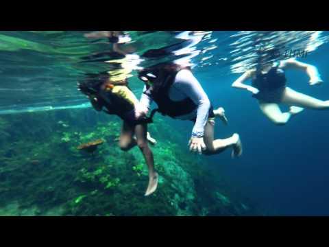 4K – Underwater Hidden Maya waters, K'aak Cenote, Yucatan – GOPRO 4K