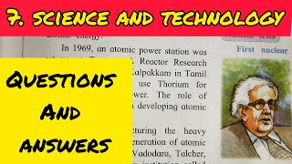 7. SCIENCE AND TECHNOLOGY QUESTIONS AND ANSWERS/EXERCISE - CLASS 9 HISTORY CHAPTER 7 - SSC