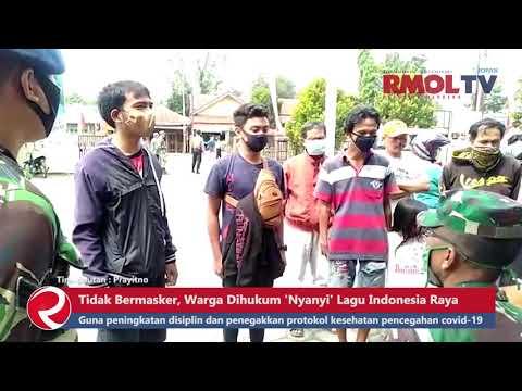 Tidak Bermasker, Warga Dihukum \'Nyanyi\' Lagu Indonesia Raya