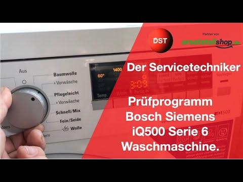 Prüfprogramm Siemens/ Bosch Waschmaschine IQ500/Serie 6
