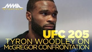 UFC 205: Tyron Woodley Details Confrontation with Conor McGregor at Weigh-Ins
