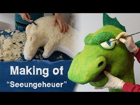 """Making of """"Seeungeheuer - Kopf"""" aus Bauschaum und Pappmache"""