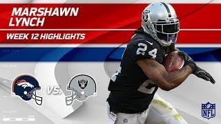 Marshawn Lynch's 111 Total Yards & 1 TD vs. Denver! | Broncos vs. Raiders | Wk 12 Player Highlights