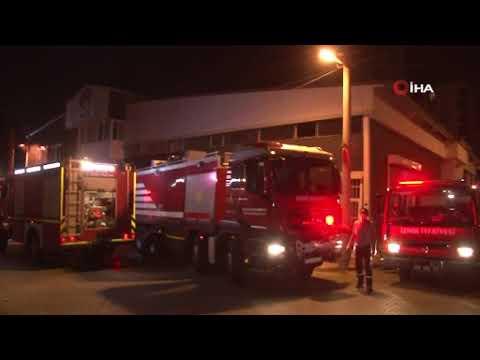 İzmir'de marangoz atölyesinde korkutan yangın