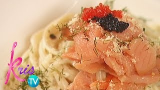 Kris TV: Cream Pasta with Smoked Salmon by Janice
