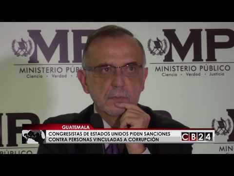 Congresistas de EE.UU. piden sanciones a corruptos de Guatemala