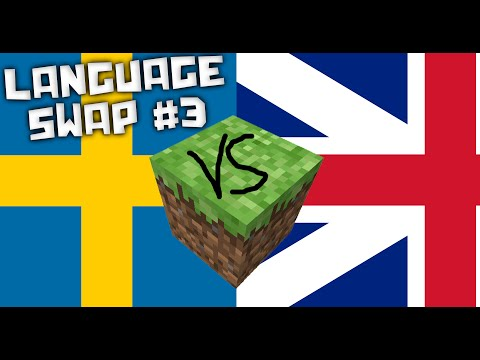 Minecraft Build Battle language swap #3 Swedish vs English!
