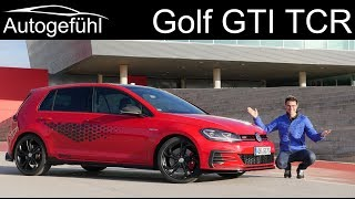 VW Golf GTI TCR FULL REVIEW with racetrack - the fastest street legal Golf GTI - Autogefühl