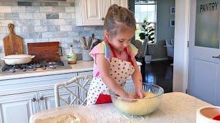 Mia Baking Alone for the First Time