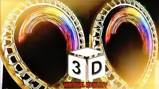 3D ROLLER COASTER E VR VIDEOS 3D SBS Google Cardboard VR Box