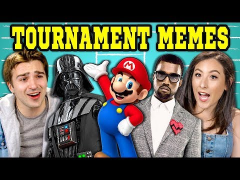 COLLEGE KIDS REACT TO VIRAL BRACKET MEMES (Kanye West, Disney, Nintendo)
