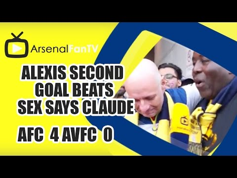 Alexis Second Goal Beats Sex Says Claude  | Arsenal 4 Villa 0 | FA Cup Final
