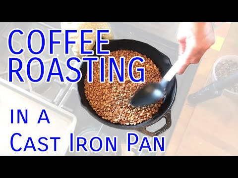 Roasting Coffee in a Cast Iron Pan