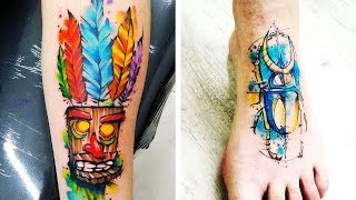 50 Colourful Watercolor Tattoo That Are Guaranteed To Intrigue You