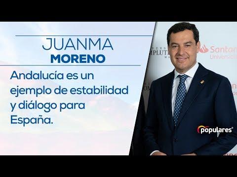 Juanma Moreno: Andalucía es un ejemplo de estabilidad y diálogo para España.