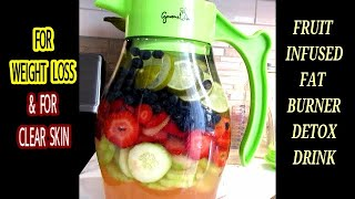 LOSE WEIGHT FAST || Powerful Fruit Infused Fat Burner Detox Infused Water For Weight Loss