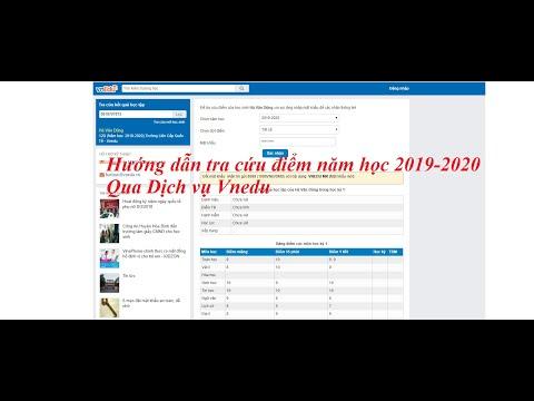 Hướng dẫn tra cứu điểm năm học 2019-2020 mới nhất qua dịch vụ Vnedu