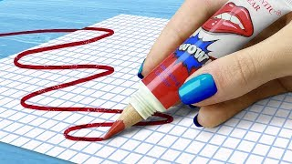 11 DIY Weird School Supplies You Need To Try! 11 School Pranks!