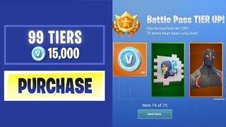 BUYING EVERY SEASON 4 BATTLE PASS TIER in Fortnite: Battle Royale